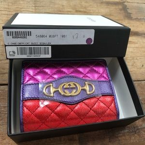 Gucci horsebit G leather wallet NWT